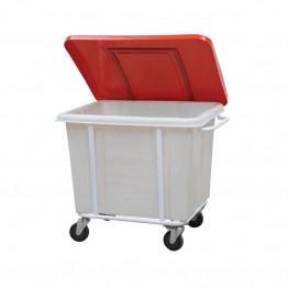 Kirli Çamaşır Arabası Plastik Kapaklı