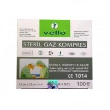 Steril Gaz Kompres 7,5cm x 7,5cm 4 Kat 100 Lük Kutu